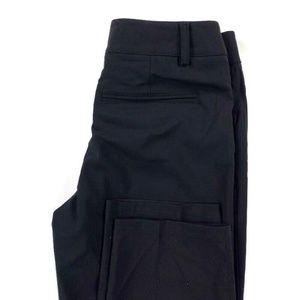 Helmut Lang Slim Overlap Stretch Ankle Dress Pants